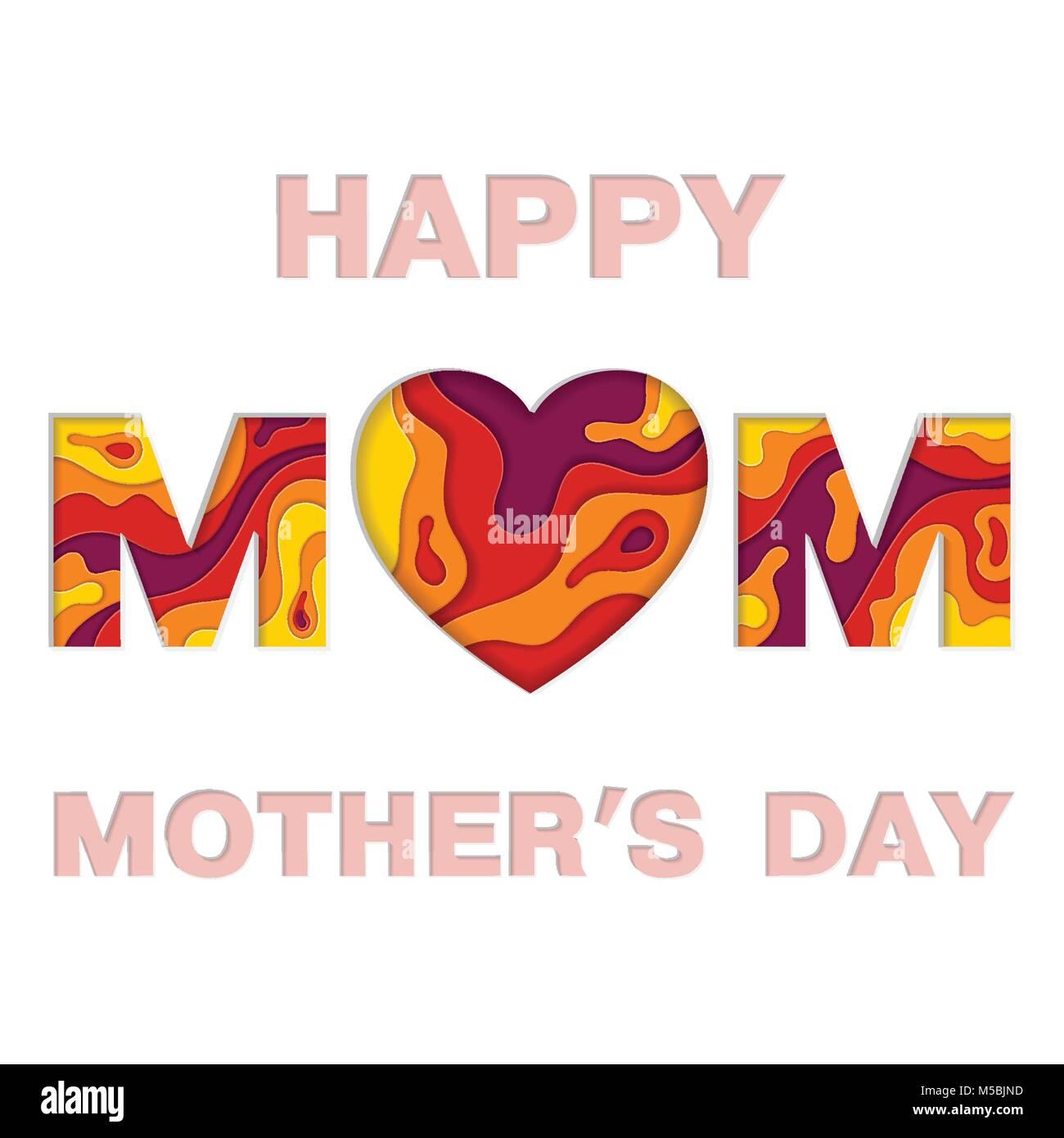 Feliz Día De La Madre Tarjeta De Invitación Ilustración Del