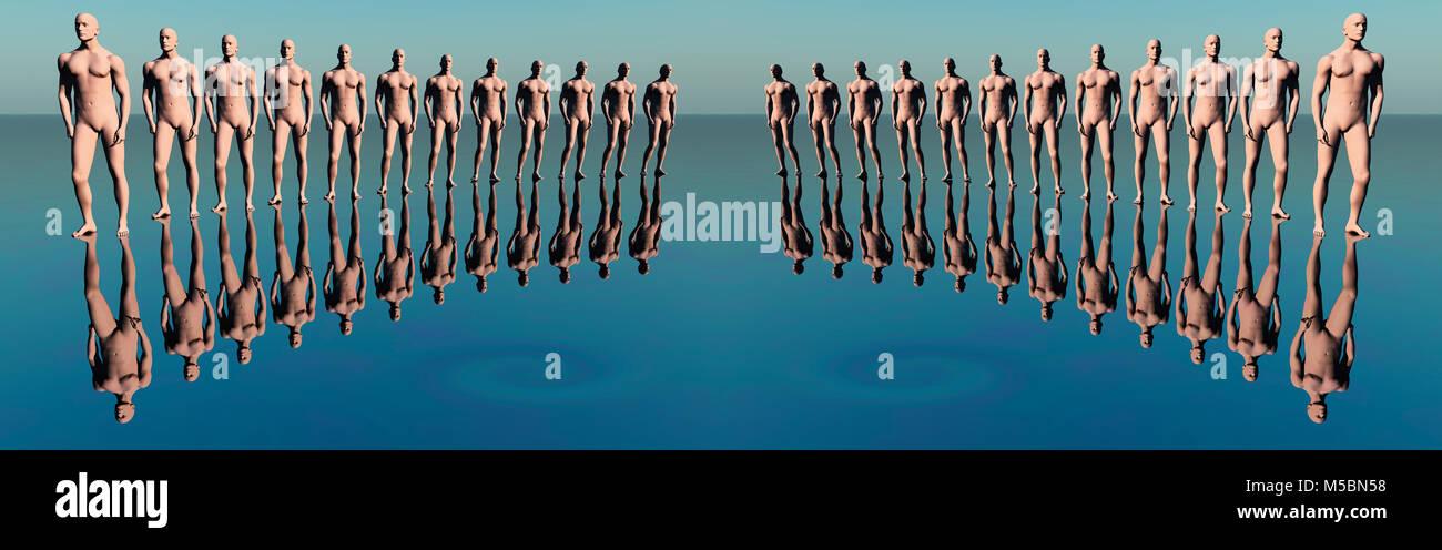 La clonación. Foto de stock