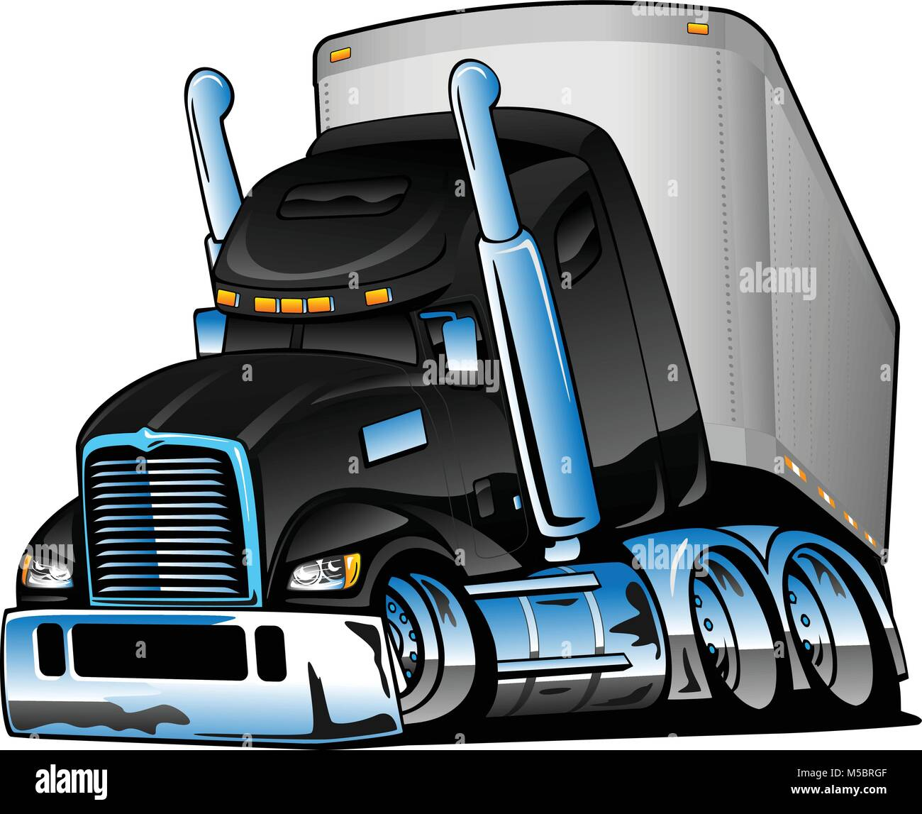 Semi Trailer Vector Vectors Imágenes De Stock & Semi Trailer Vector ...