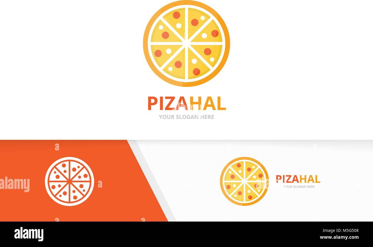 Vector logo combinación de pizza. Símbolo de comida o icono ...
