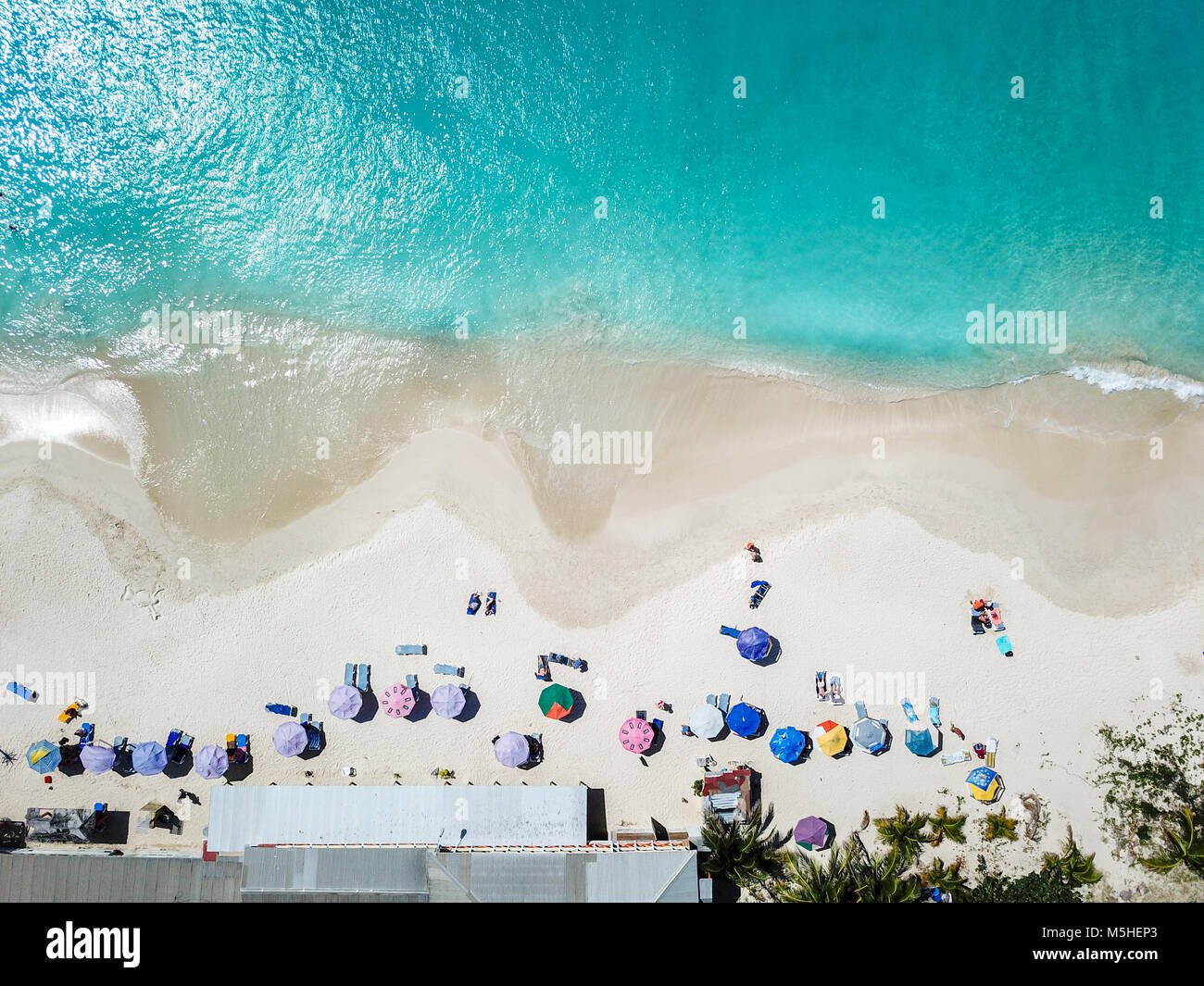 Playa de Darkwood, mitad Hyde Bay, Antigua Foto de stock