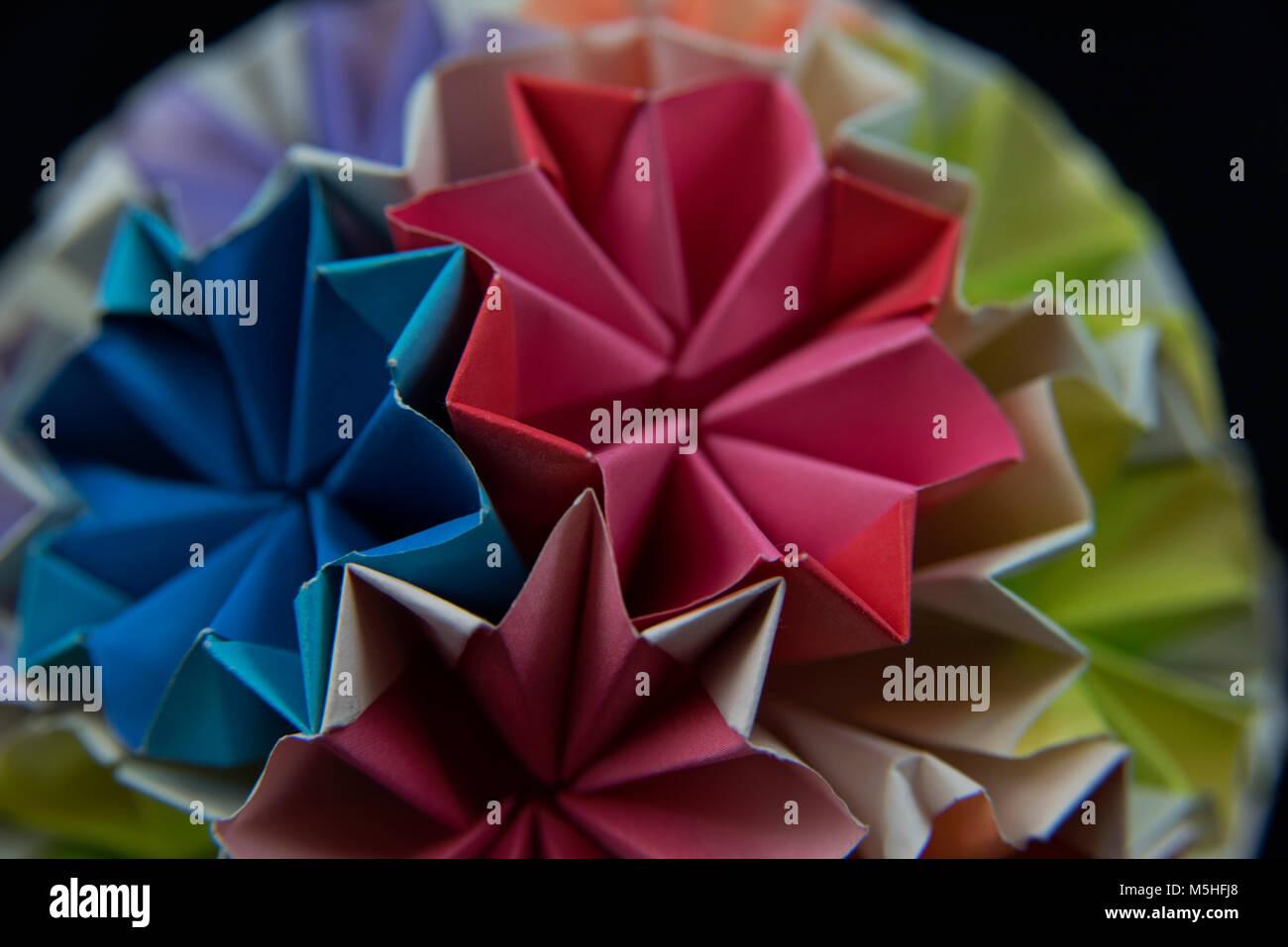 Origami ball cerrar Imagen De Stock