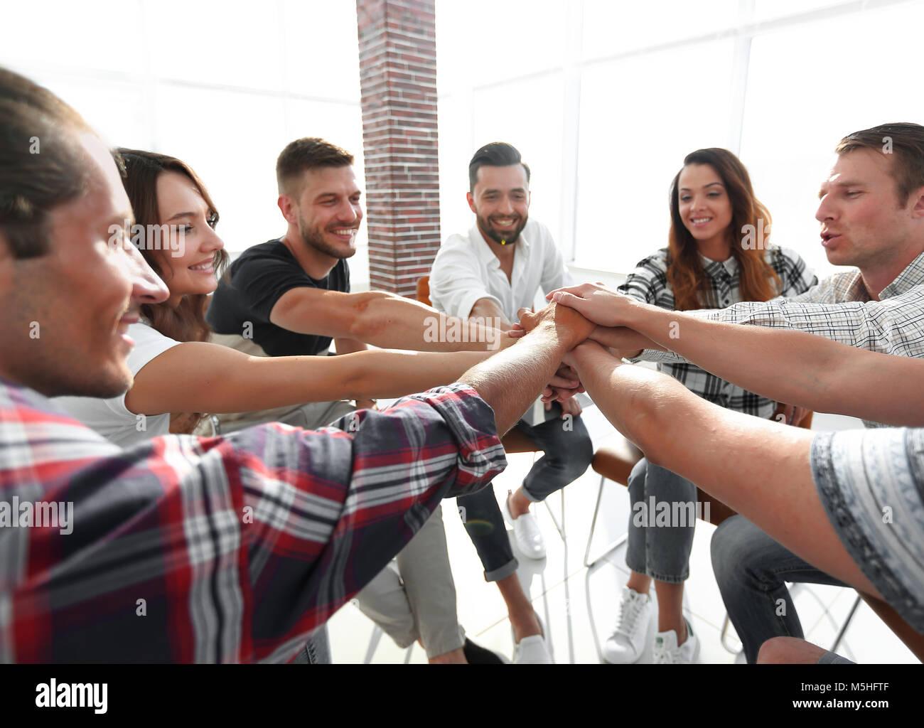 Equipo de negocios unificada.El concepto de trabajo en equipo Imagen De Stock