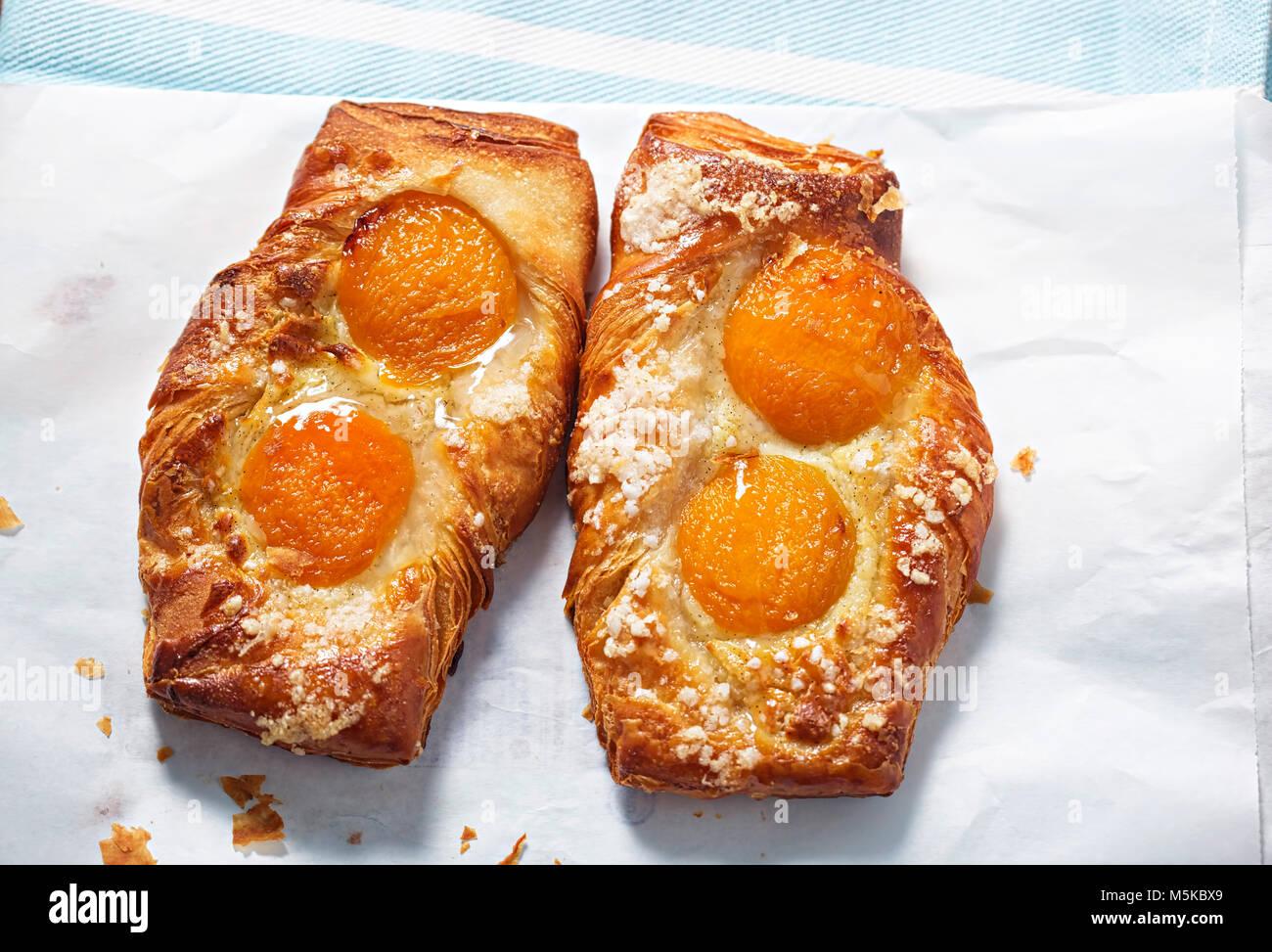 Albaricoque pastelería francesa Imagen De Stock