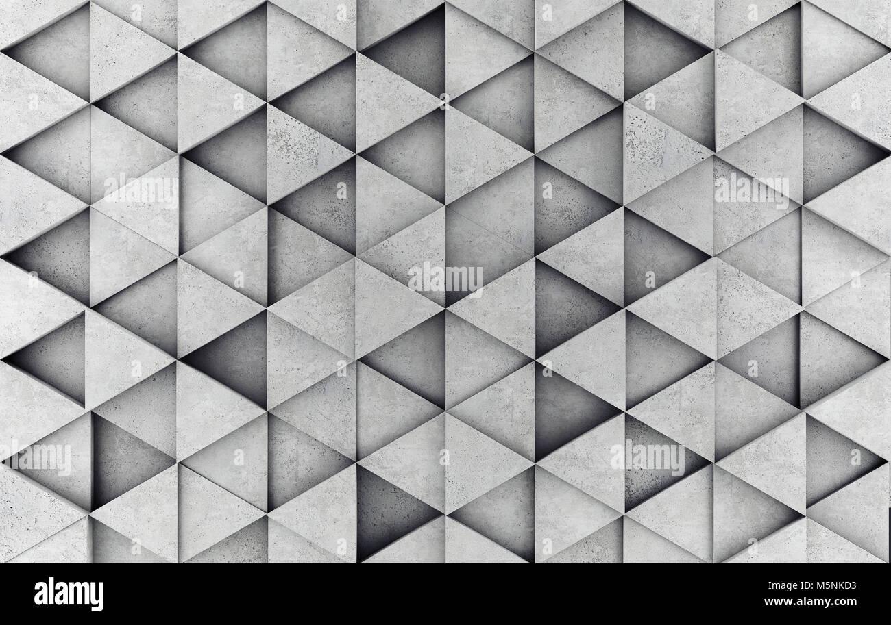 Prisma de hormigón como fondo. 3D rendering Imagen De Stock