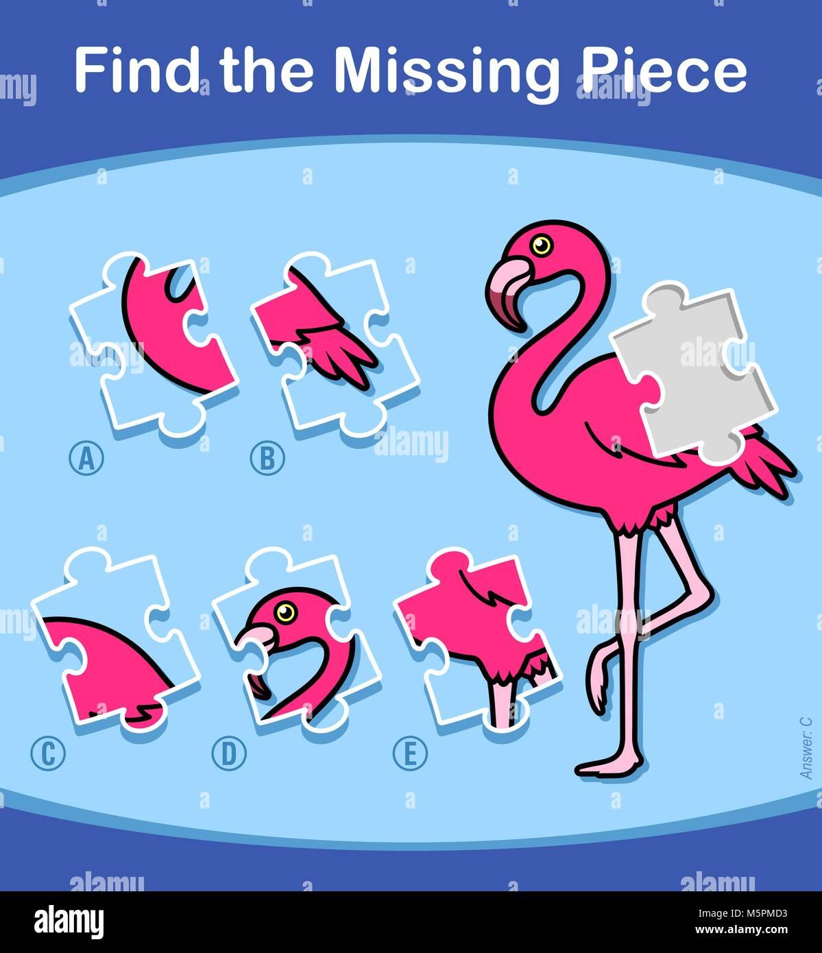 Encontrar la pieza faltante rompecabezas educativos para niños ...