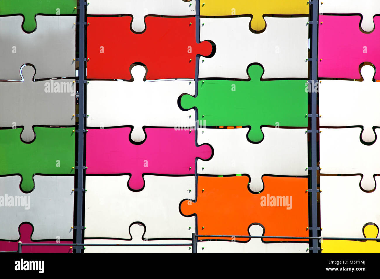 Pink Puzzle Background Jigsaw Pattern Imágenes De Stock & Pink ...