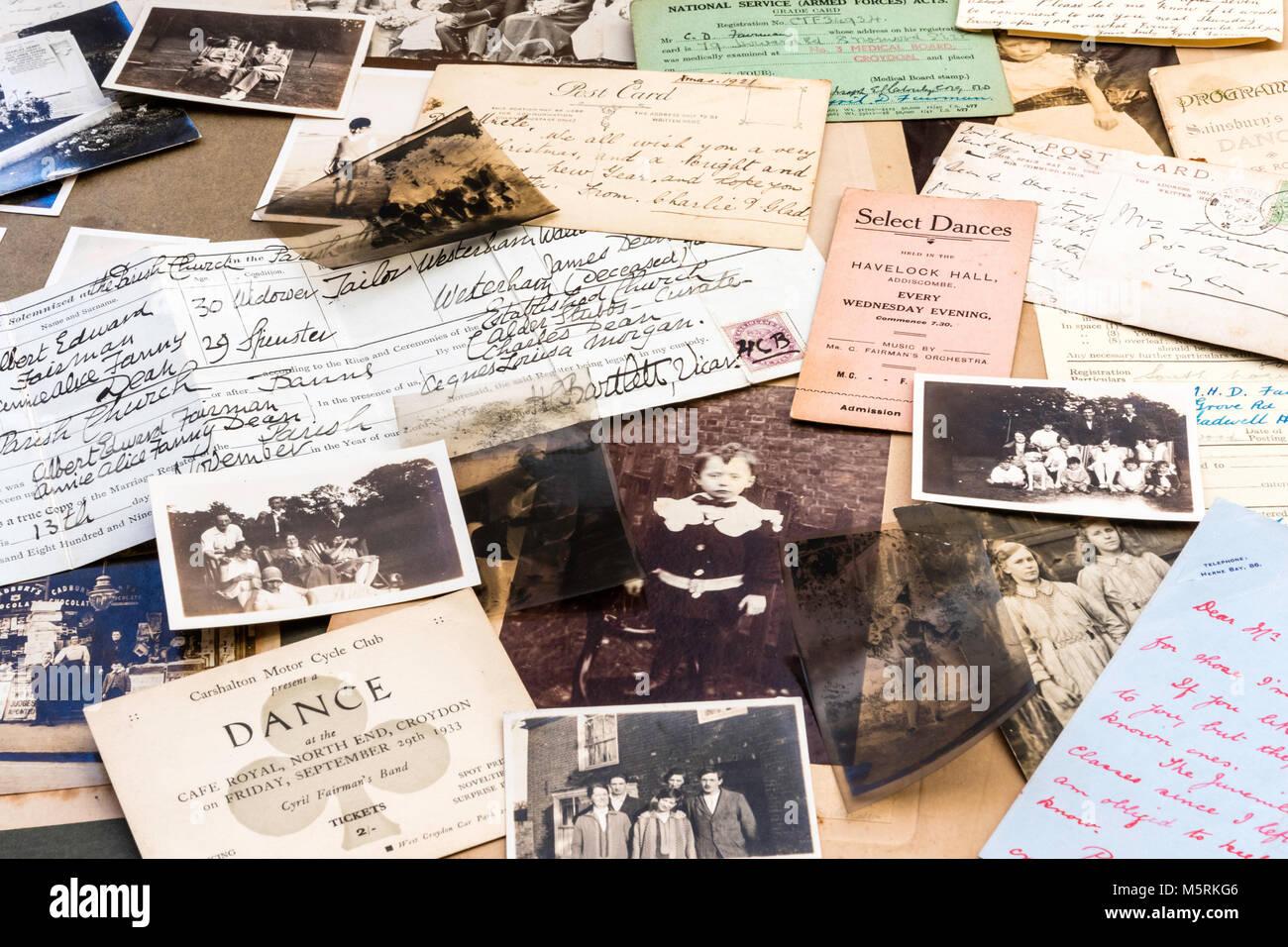 Genealogía y recuerdos. 1900-1920 fotografías, negativos, postales ...