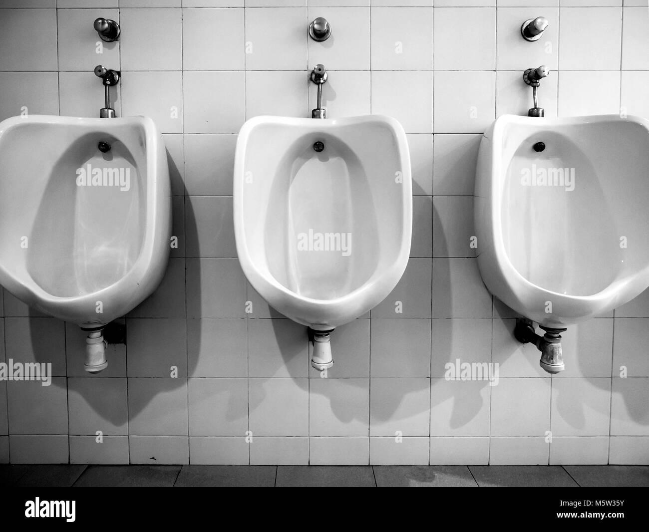 Urinarios o mingitorio. Baeza. Jaén. Andalucía. España Imagen De Stock