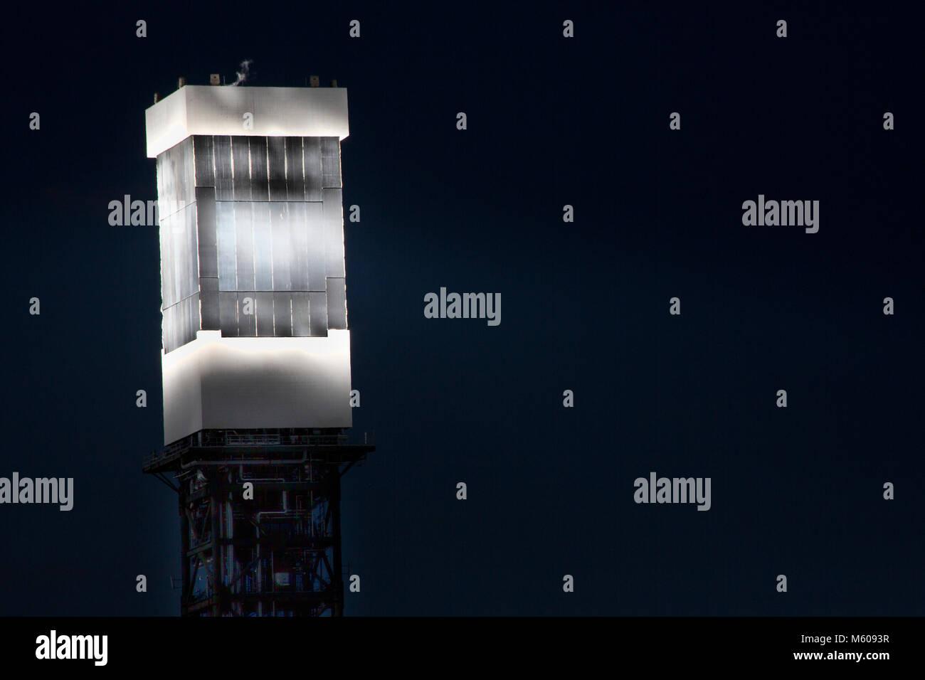 Vistas de instalaciones de energía solar Ivanpah en Nevada Imagen De Stock