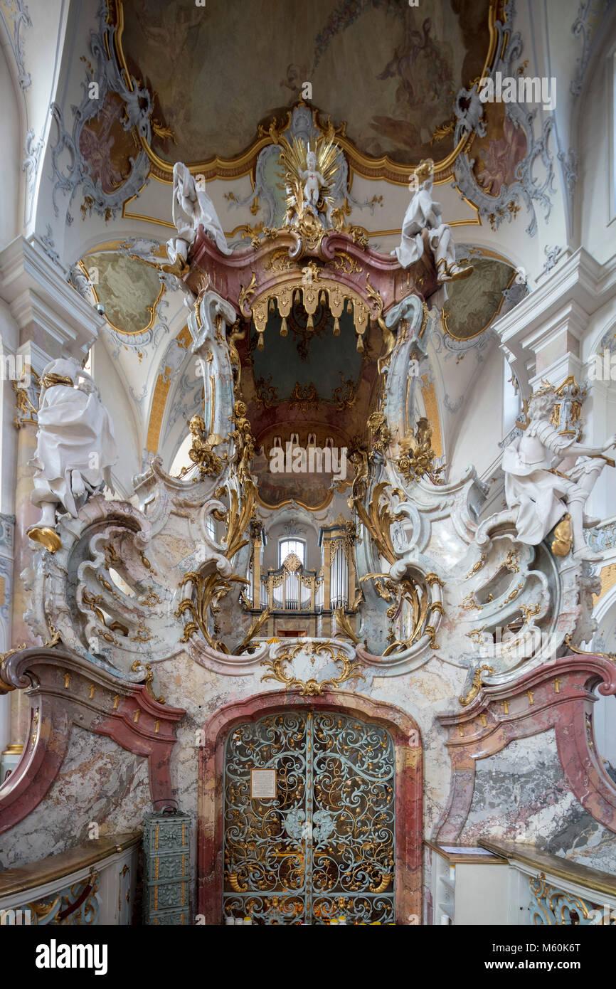 La Basílica de los catorce Ayudantes Santo (Alemán: Basilika Vierzehnheiligen), iglesia cerca de Bad Staffelstein Imagen De Stock