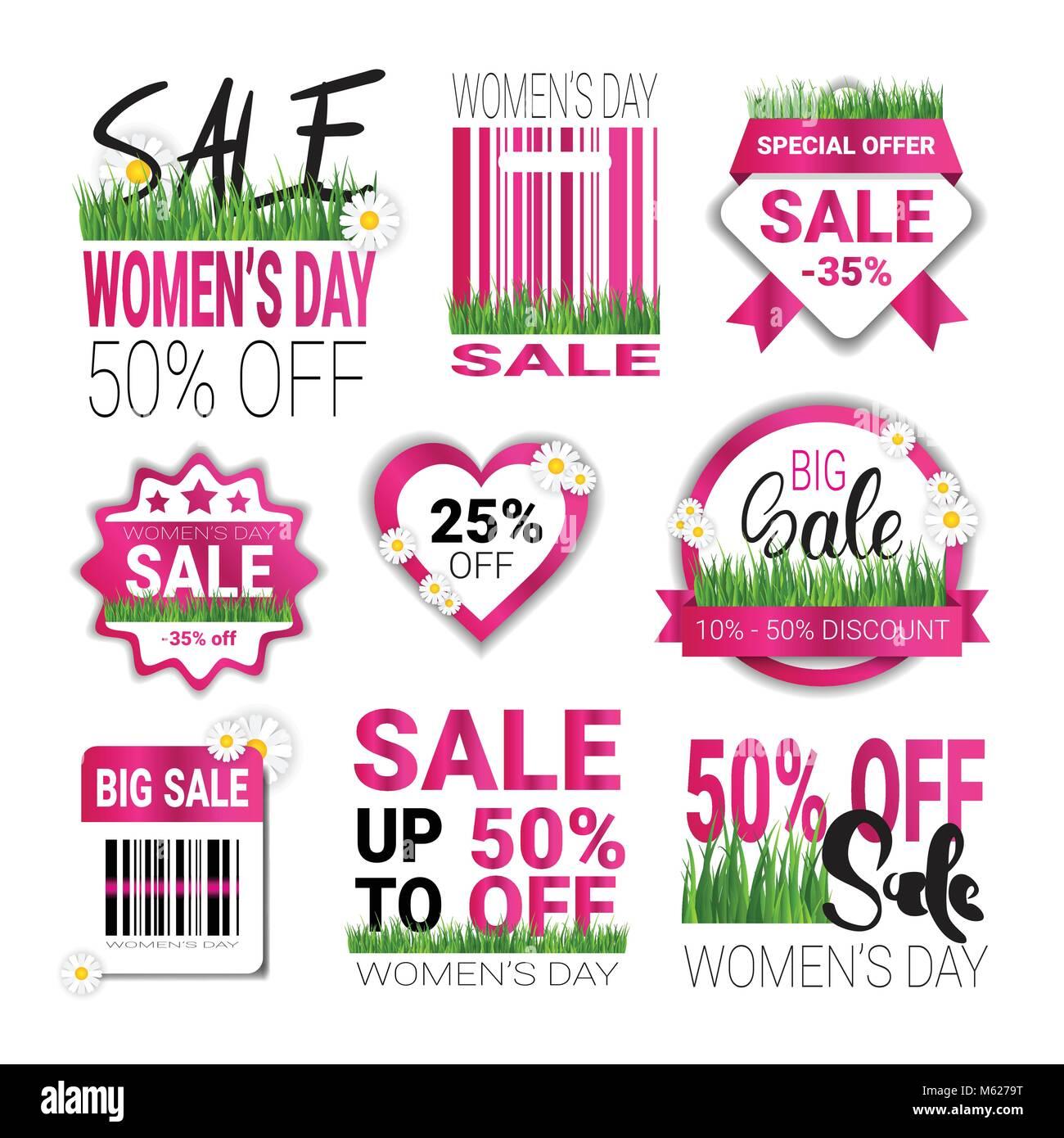 2dd789c129 Descuentos para definir la plantilla de etiquetas 8 de marzo Día  Internacional de la mujer la