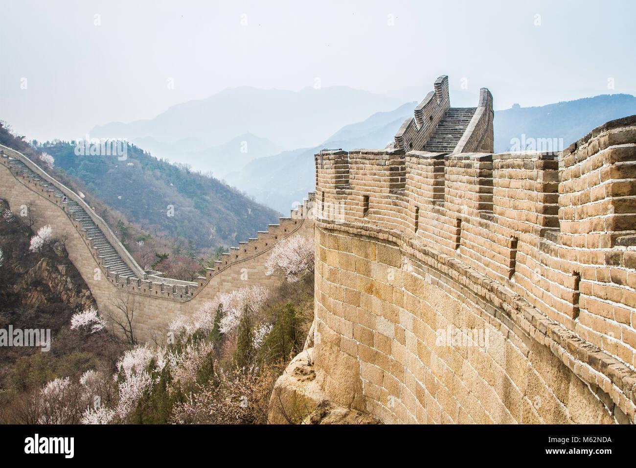 La Gran Muralla de China, la sección Badaling Imagen De Stock