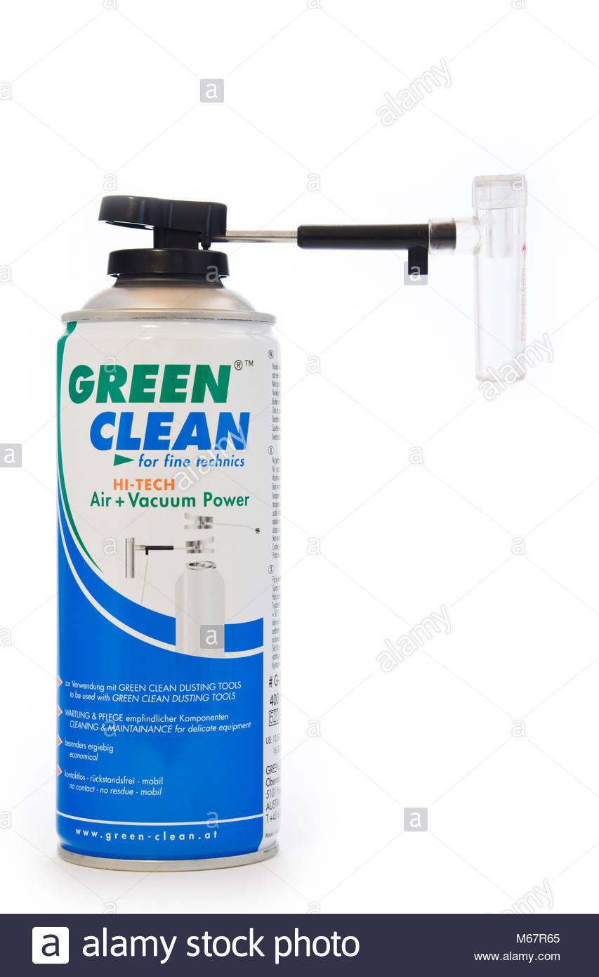 Lata de aire comprimido limpio verde sensor de fotograma completo de ...