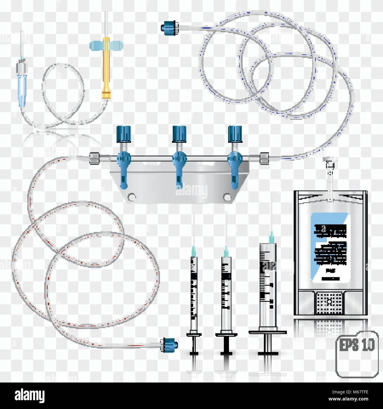 90dd6c395 Bolsa de plástico antibióticos intravenosos y conjunto de infusión. Sistema  para infusiones intravenosas con un dispositivo de conversión.
