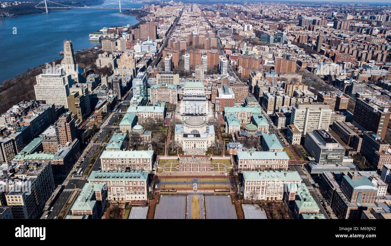 Campus de la Universidad de Columbia, Nueva York, EE.UU. Imagen De Stock