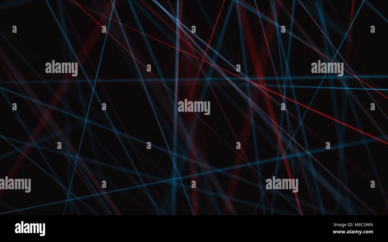 Ilustración 3D de conexiones de línea, imagen abstracta para utilizar como fondo. Imagen De Stock