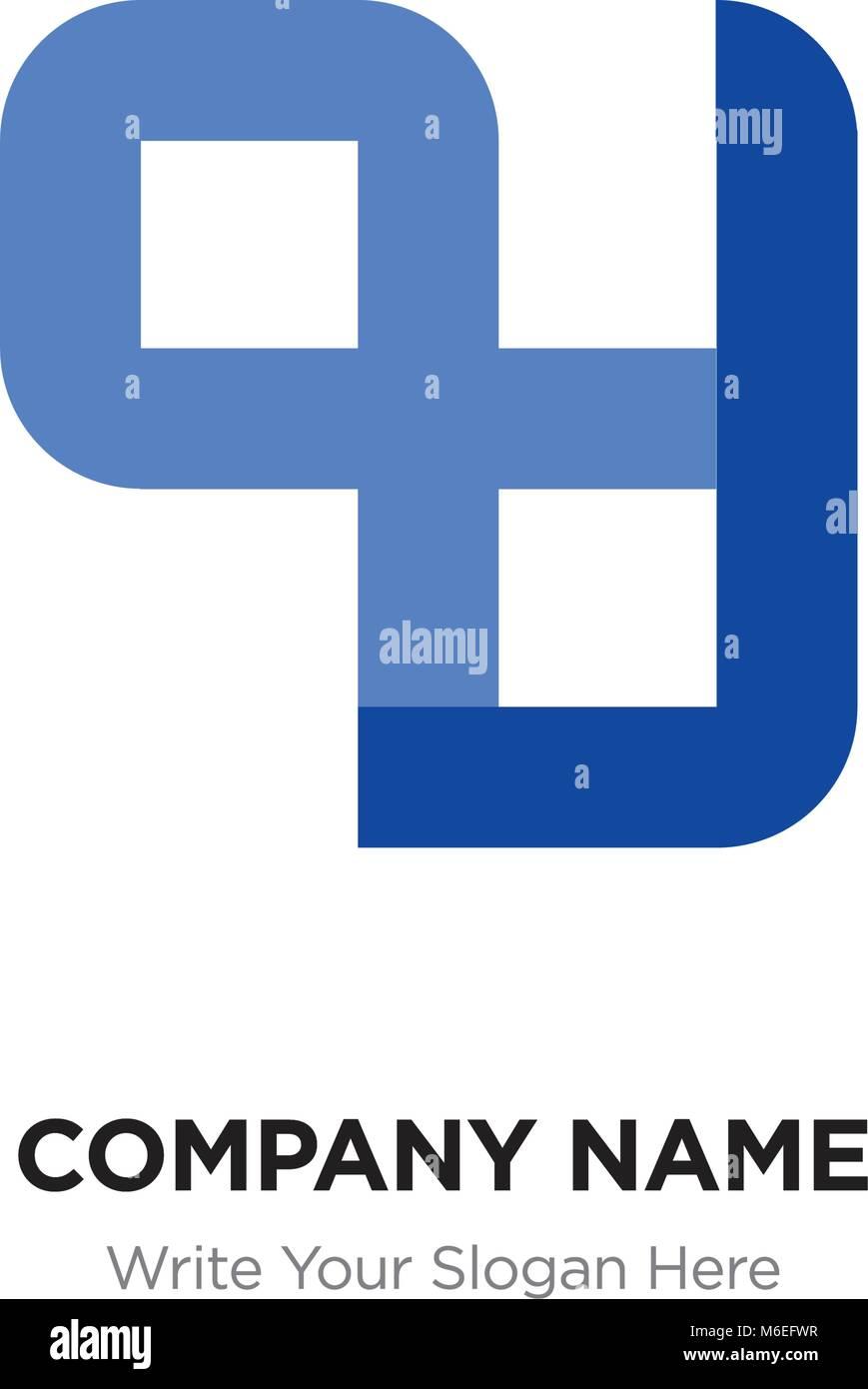 Carta abstracta PZ o ZP plantilla Diseño de logotipo, letras ...