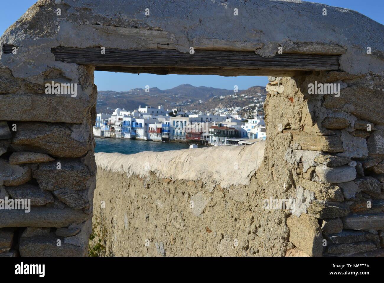 Mykonos Grecia Foto de stock