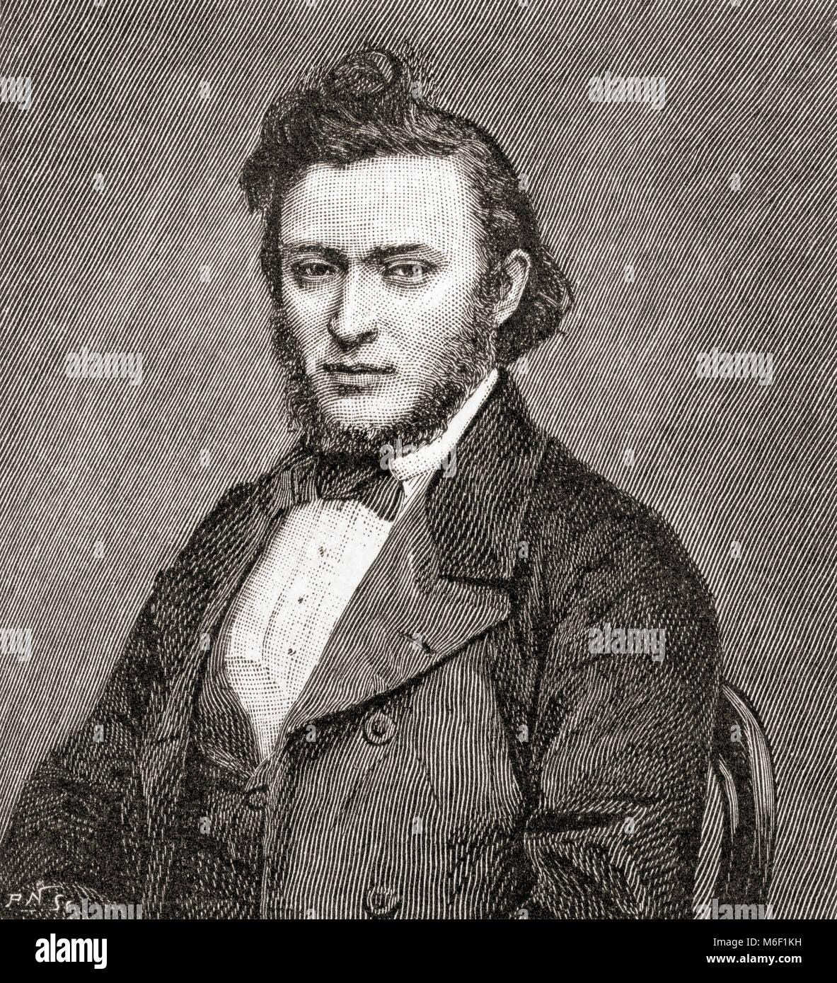 Wilhelm Gottlieb Leitner o William Gottlieb Leitner, 1840 - 1899. El orientalista británico. A partir de The Imagen De Stock
