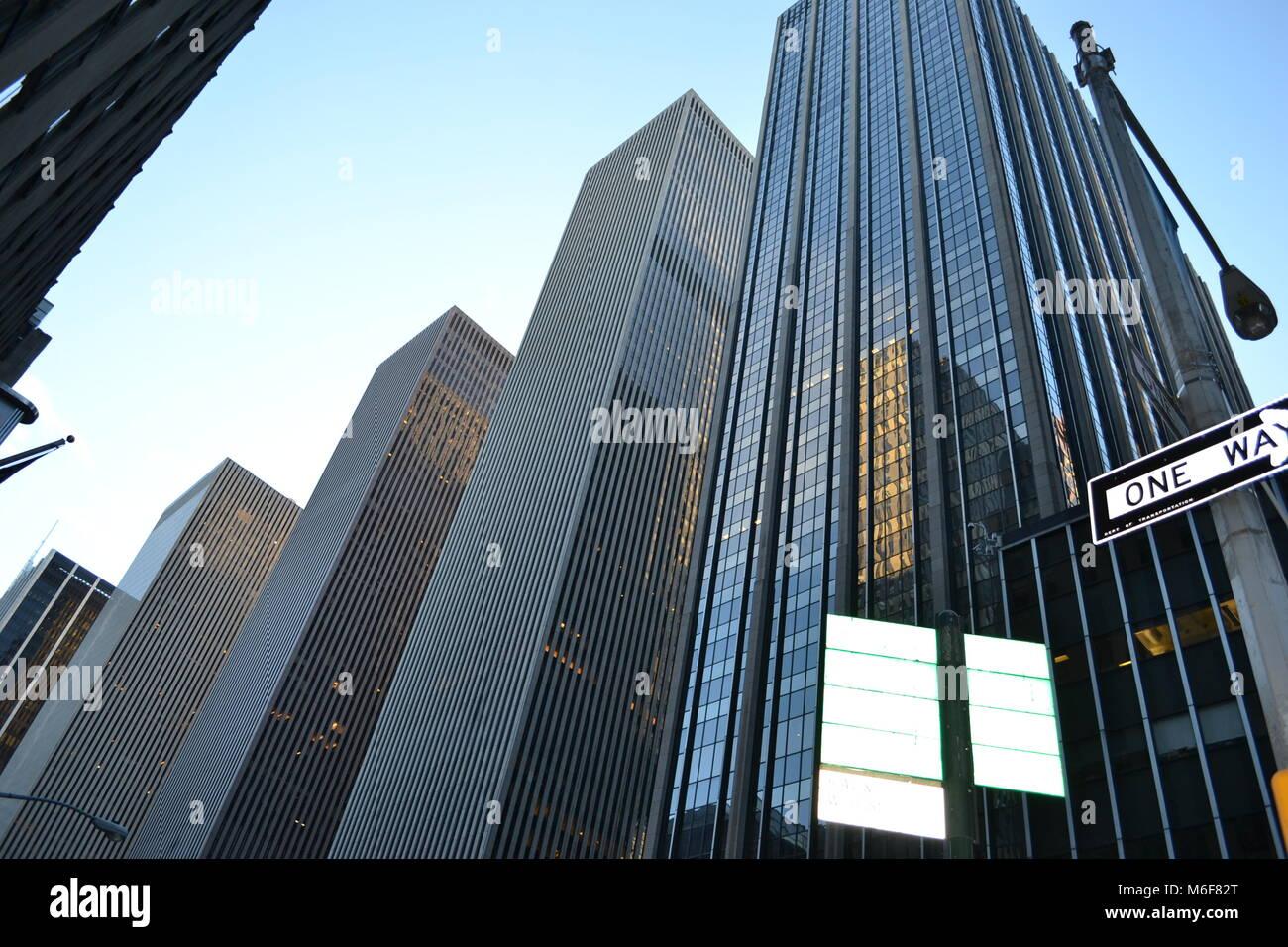 La Ciudad de Nueva York Manhattan Foto de stock