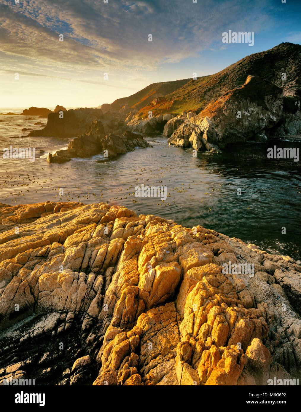 Granito, Garrapata State Park, Big Sur, el Condado de Monterey, California Imagen De Stock