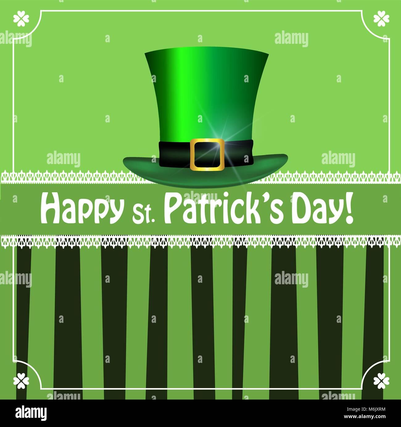 St Patricks Day Border Shamrocks Imágenes De Stock & St Patricks Day ...