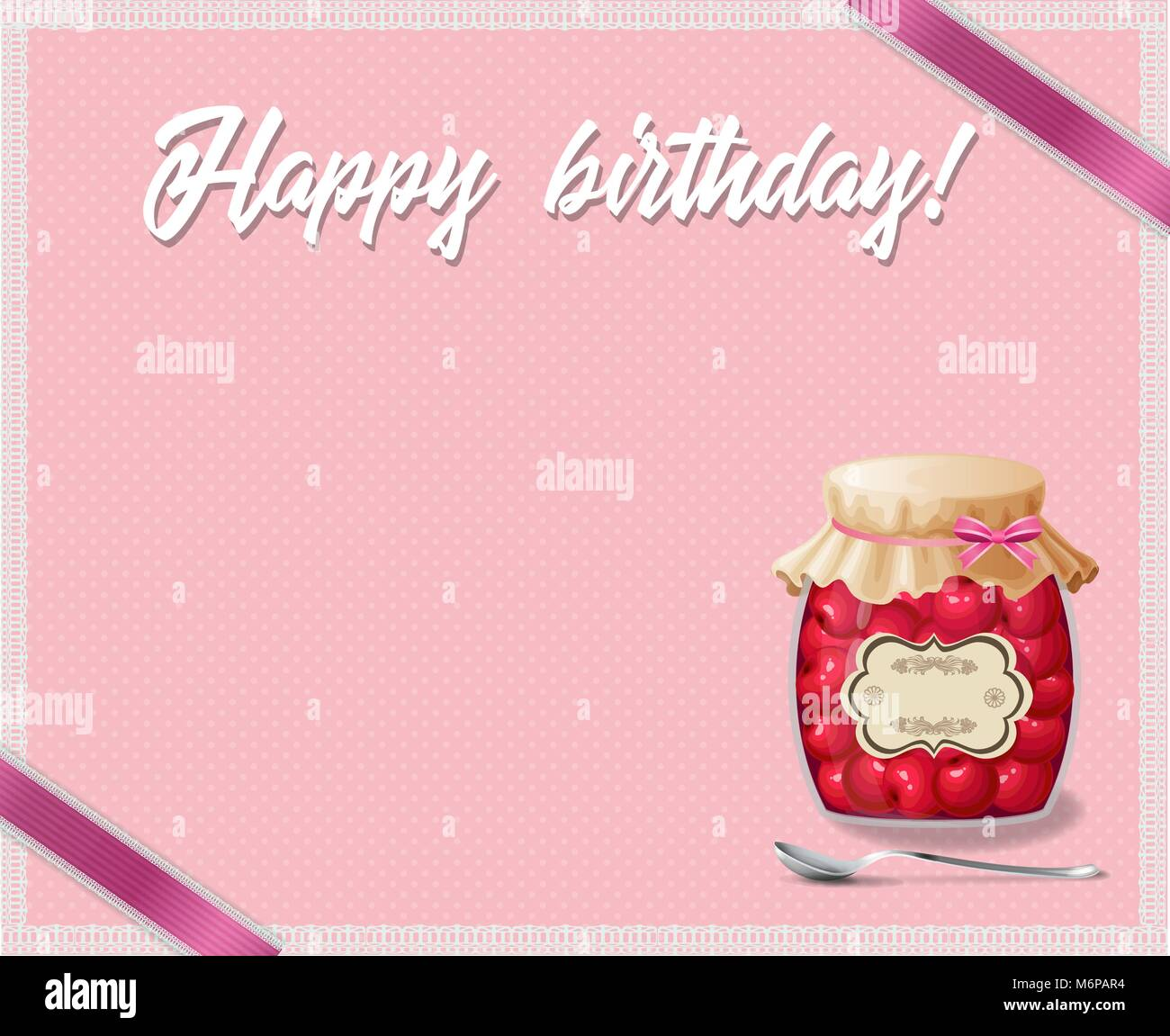 Rosa y lunares con marco de cumpleaños feliz cumpleaños título, Rosa ...