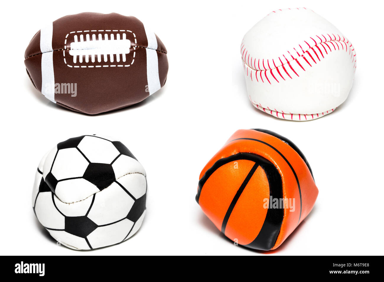 A Basketball And A Baseball Ball Imágenes De Stock   A Basketball ... eb339e48c3fbd
