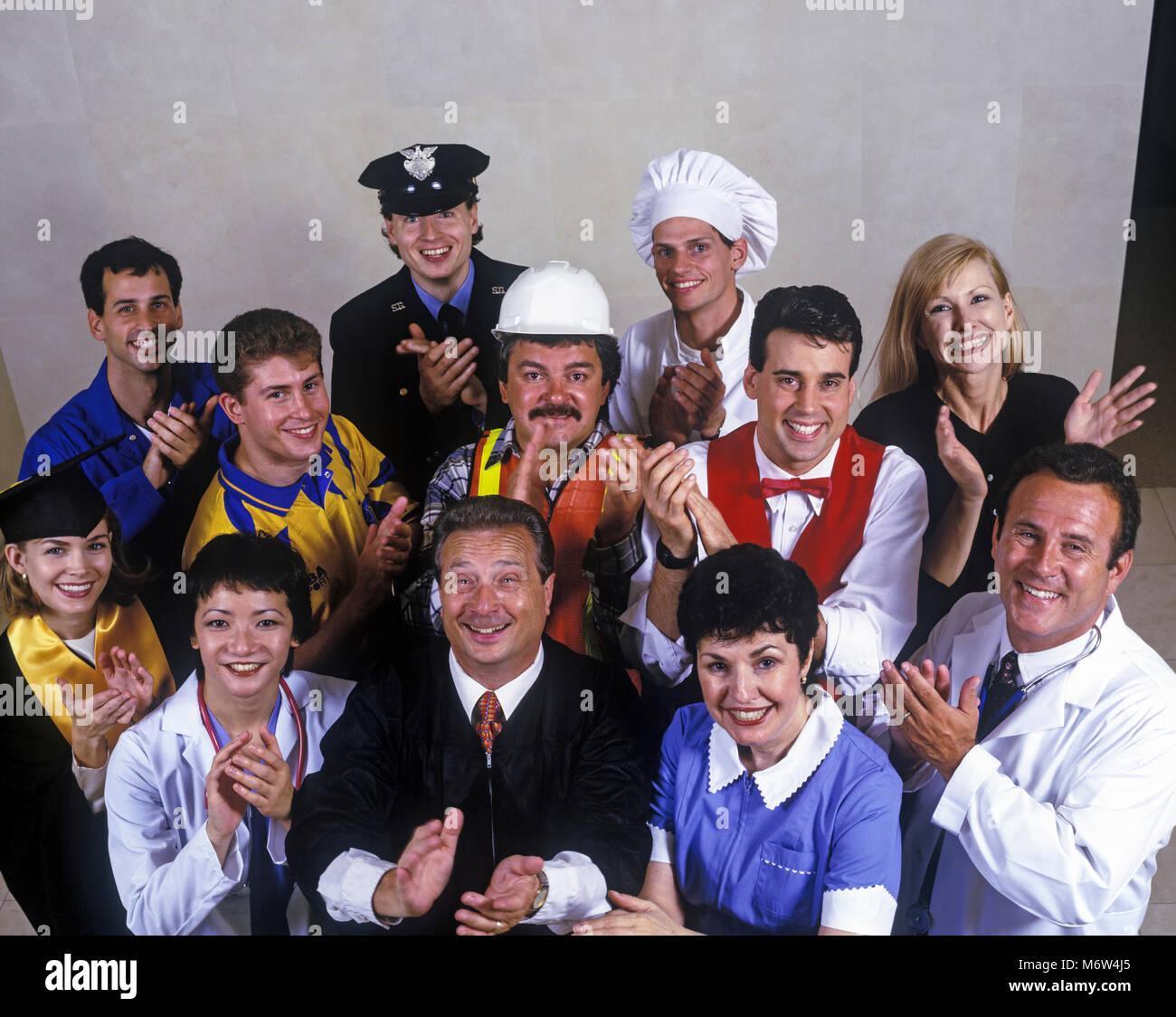 1996 histórico multiétnico grupo de ocupaciones Imagen De Stock