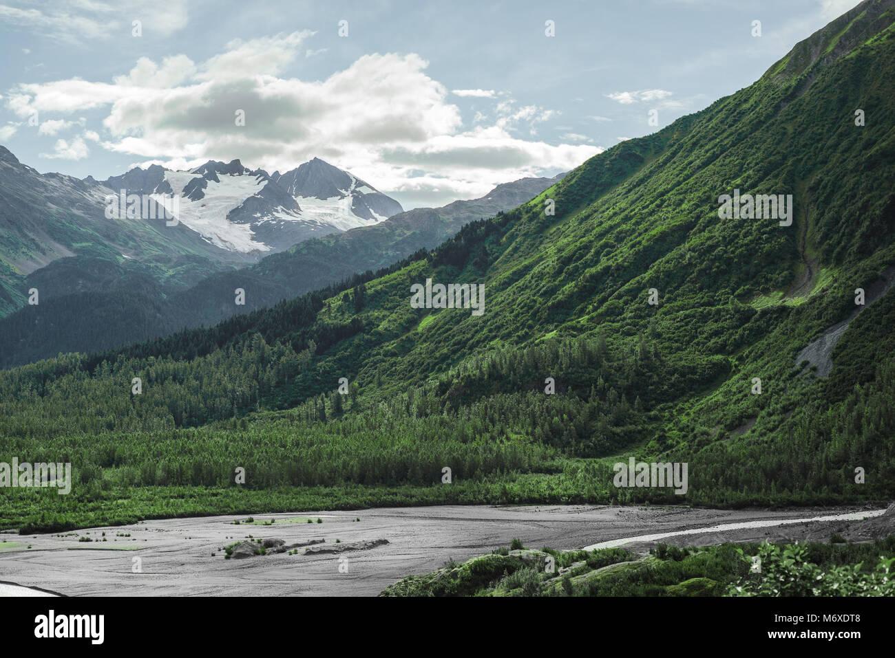El Parque Nacional de los fiordos de Kenai Imagen De Stock