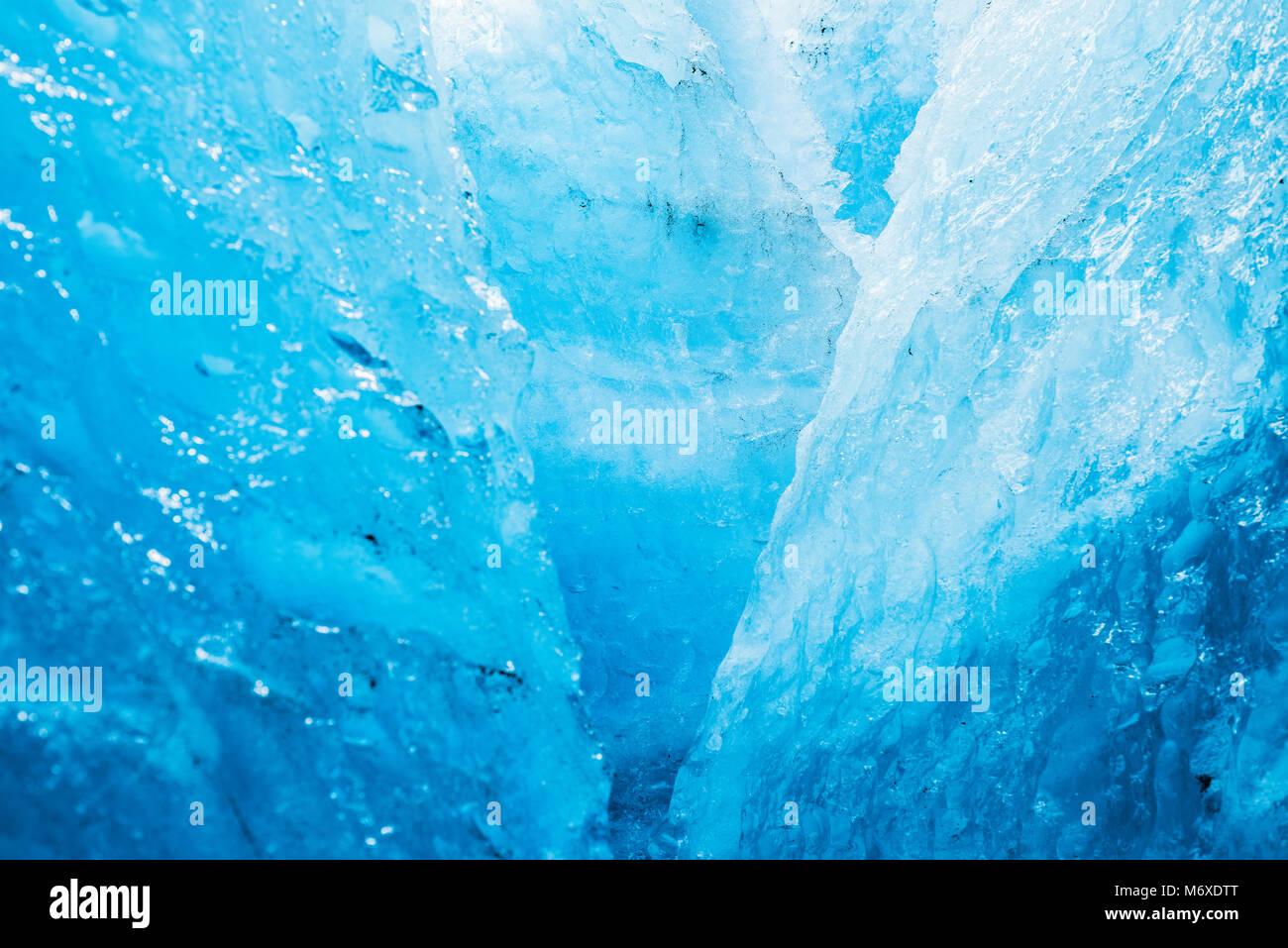Escalada en Hielo en el glaciar de salida Imagen De Stock
