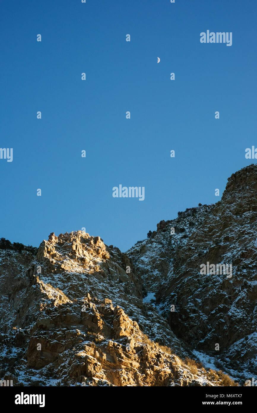 Cordillera en Nuevo México al atardecer Foto de stock