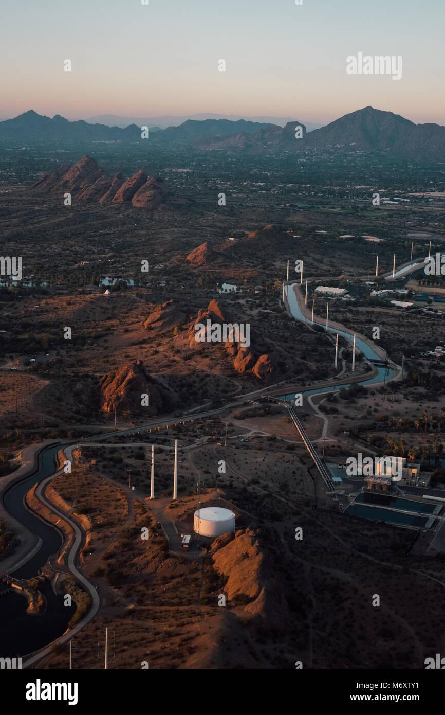 Opiniones de Arizona desde arriba Imagen De Stock