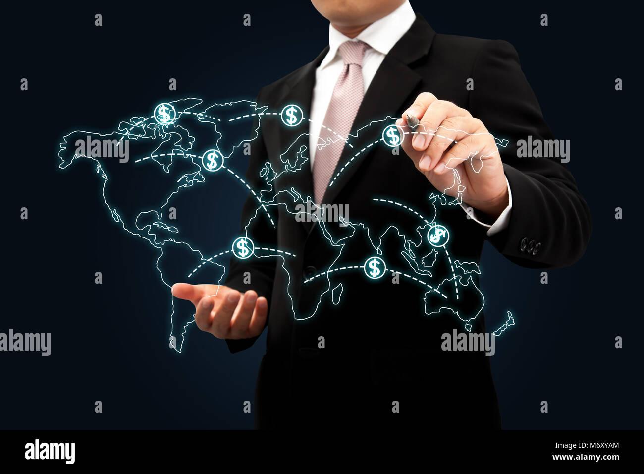 El crecimiento del negocio en todo el mundo. Imagen De Stock