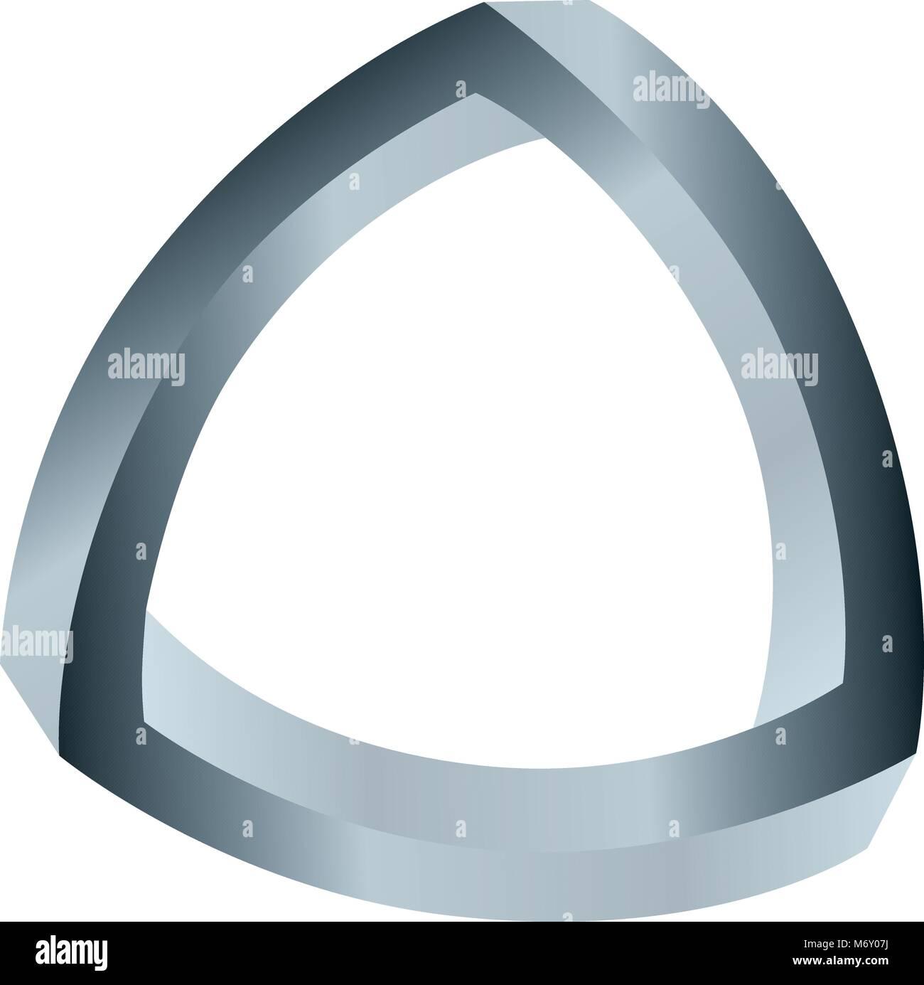 Triángulo esférico ilusión lazo trenzado Imagen De Stock