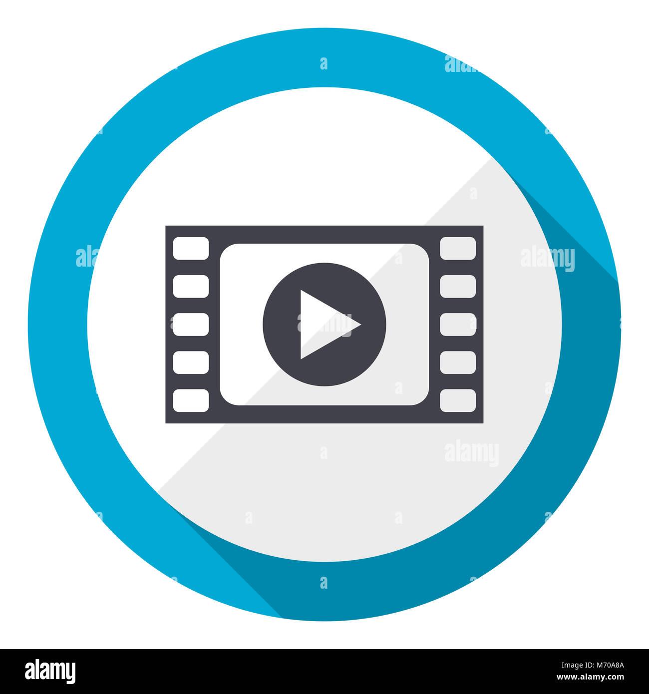 05d921b305 Reproducir vídeo plano azul icono web design Foto & Imagen De Stock ...