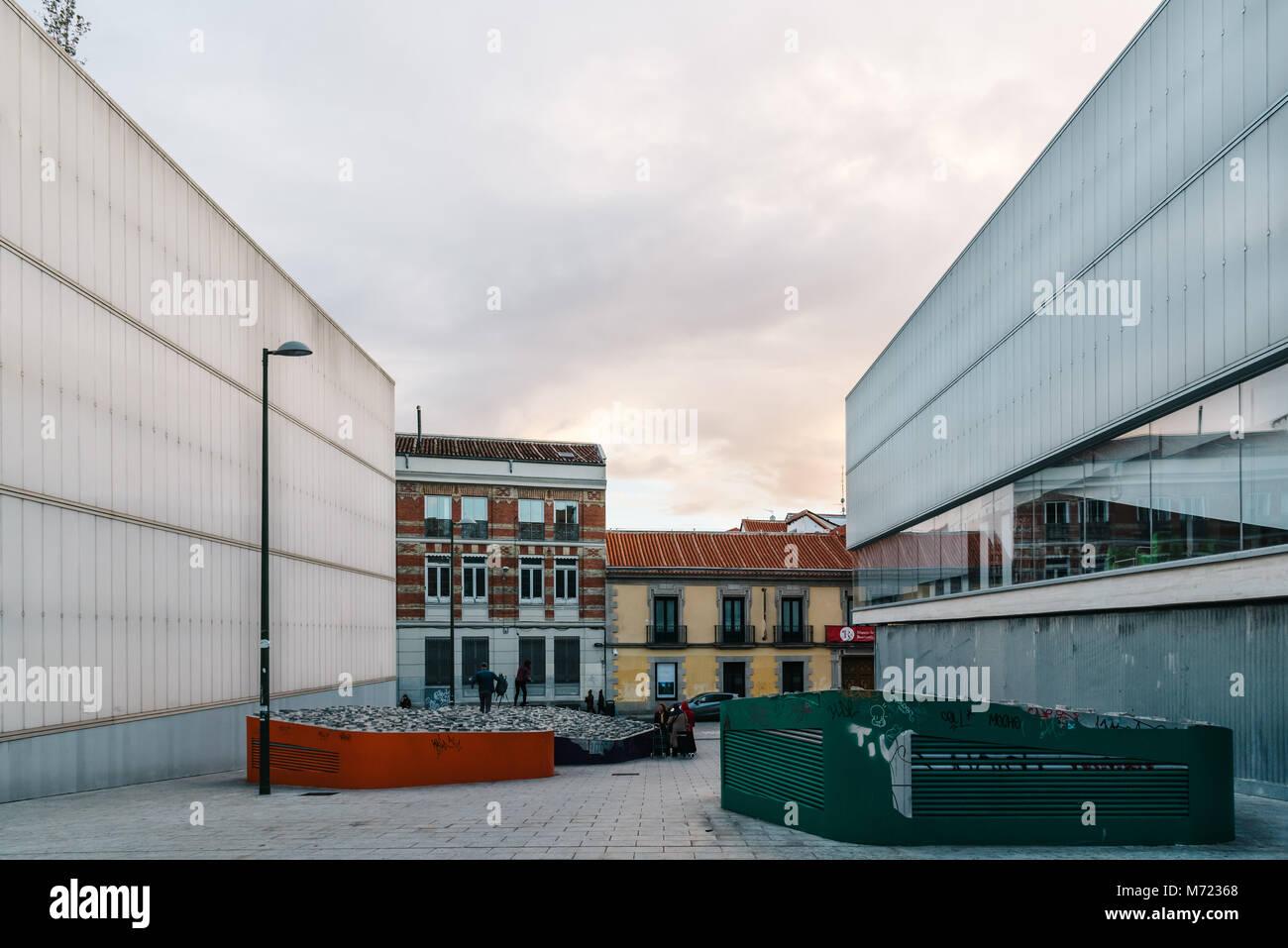 Madrid España 3 De Noviembre De 2017 Vista Exterior Del
