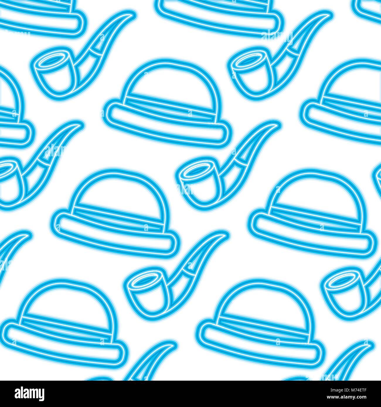 Sombrero clásico estilo HIPSTER tubo de tabaco y papel tapiz Imagen De Stock b0d6357f92f