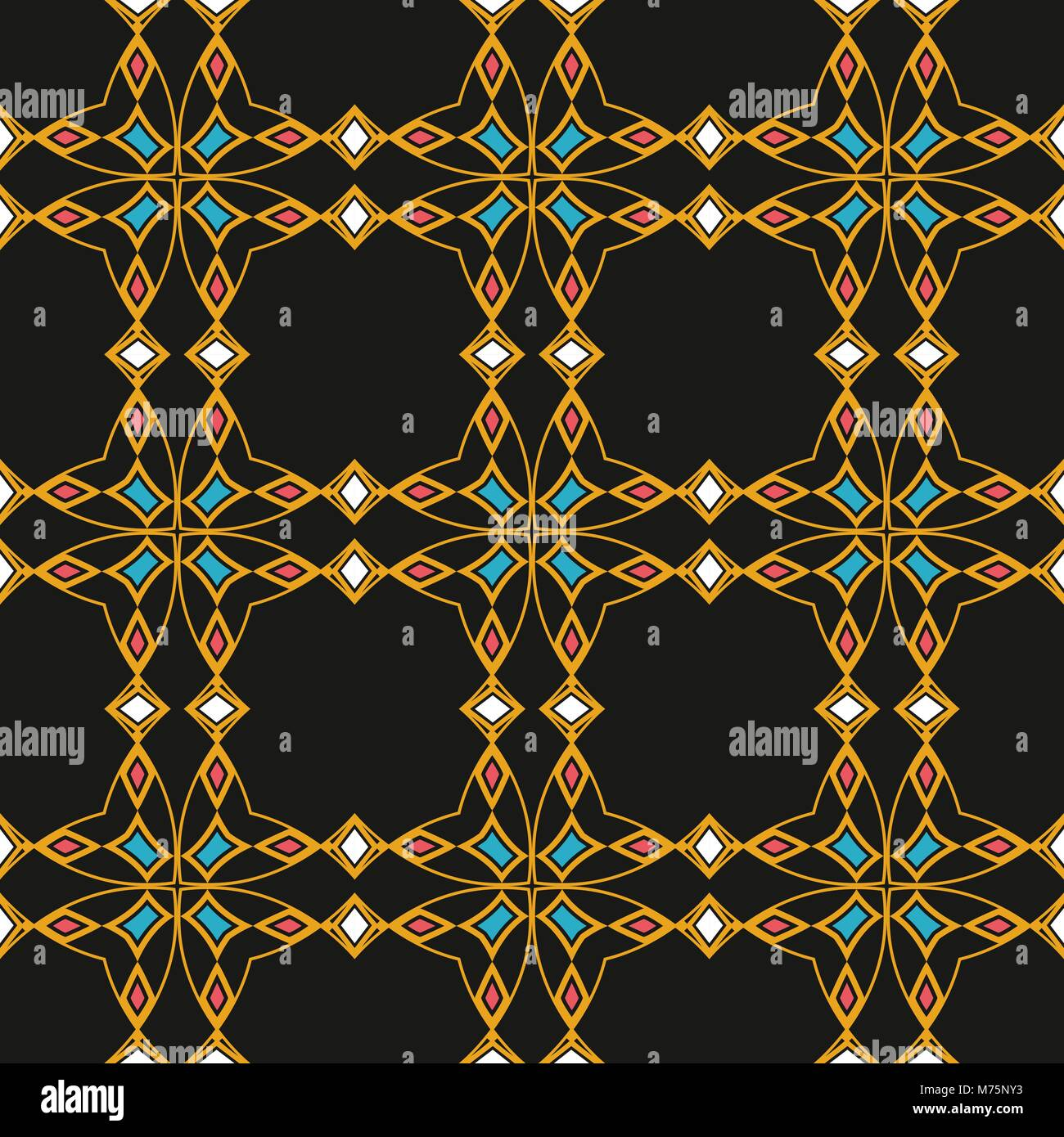 Vector de fondo de la trama perfecta de damasco polígono curva cruz ...