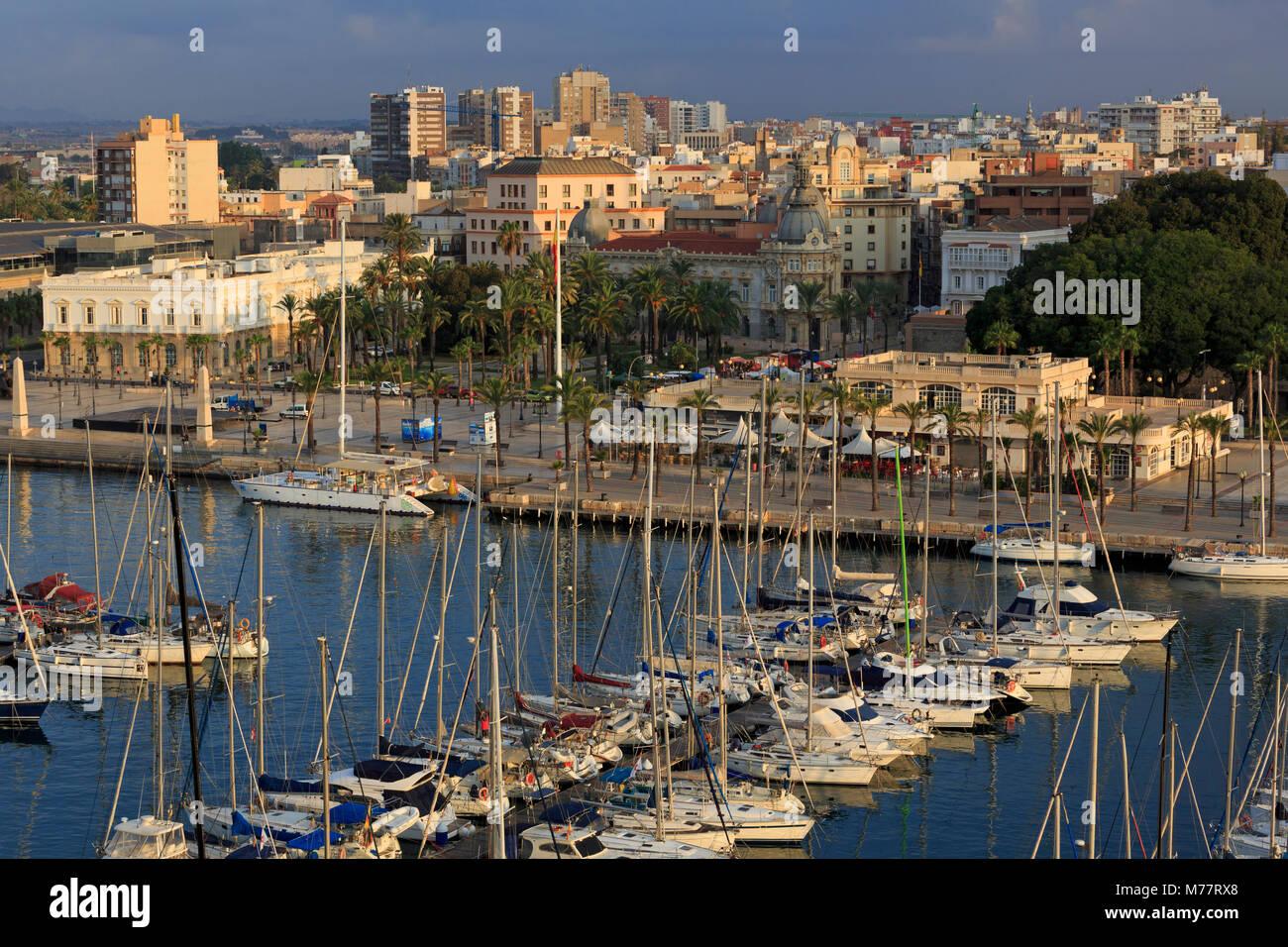 Marina, puerto de Cartagena, Murcia, España, Europa Imagen De Stock