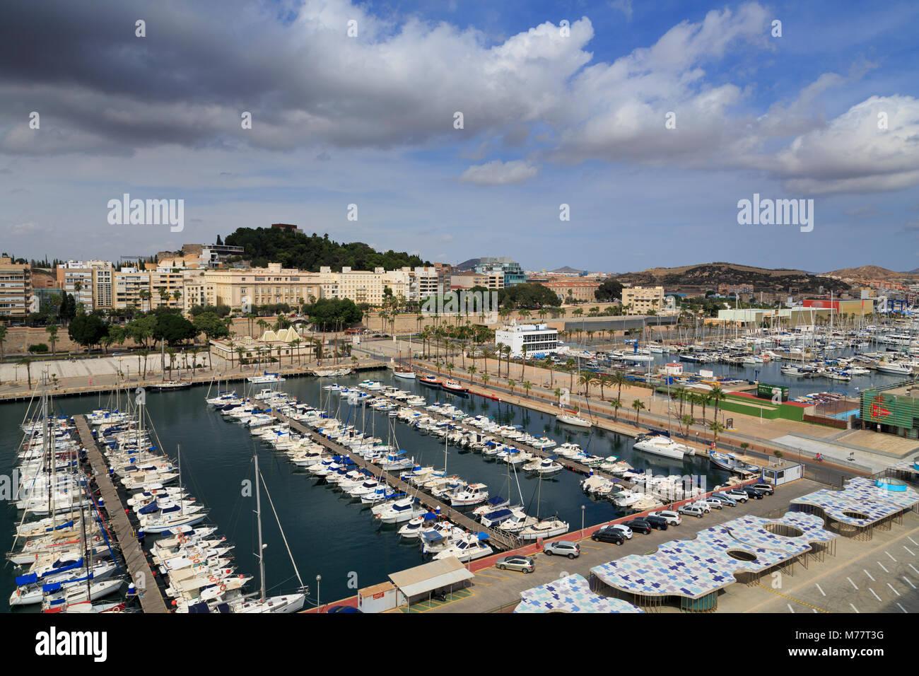 Marina de yates, Cartagena, Murcia, España, Europa Imagen De Stock