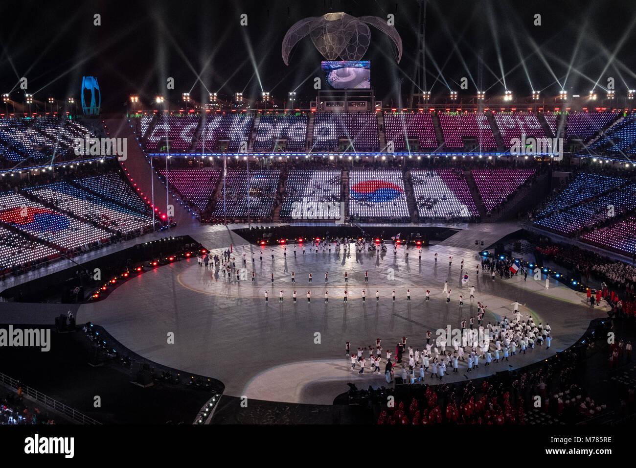 Pyeongchang, Corea del Sur. 9 Mar, 2018. Ceremonia de apertura de ...