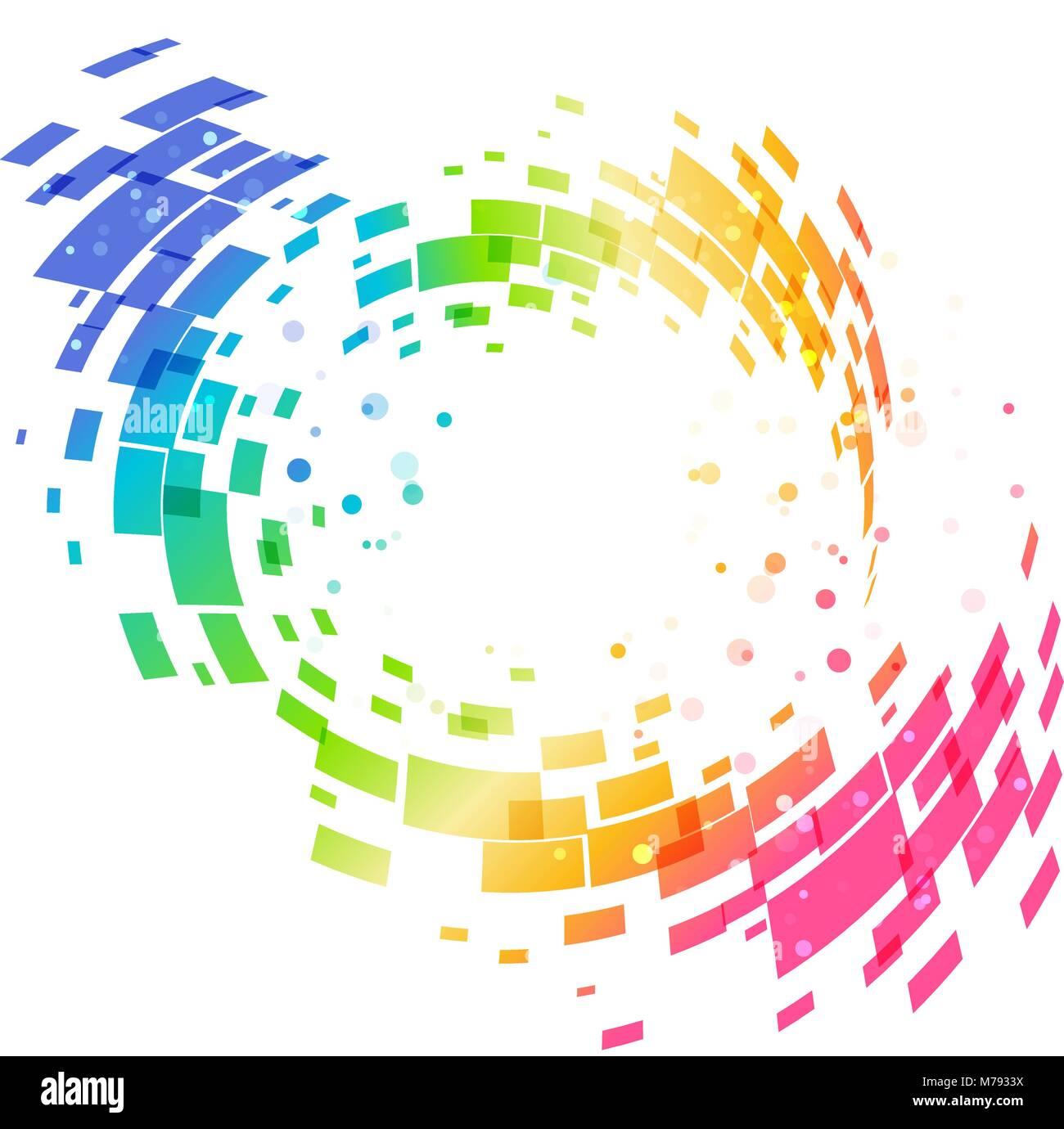 Geométrica abstracta colorido fondo circular, elemento de diseño ...