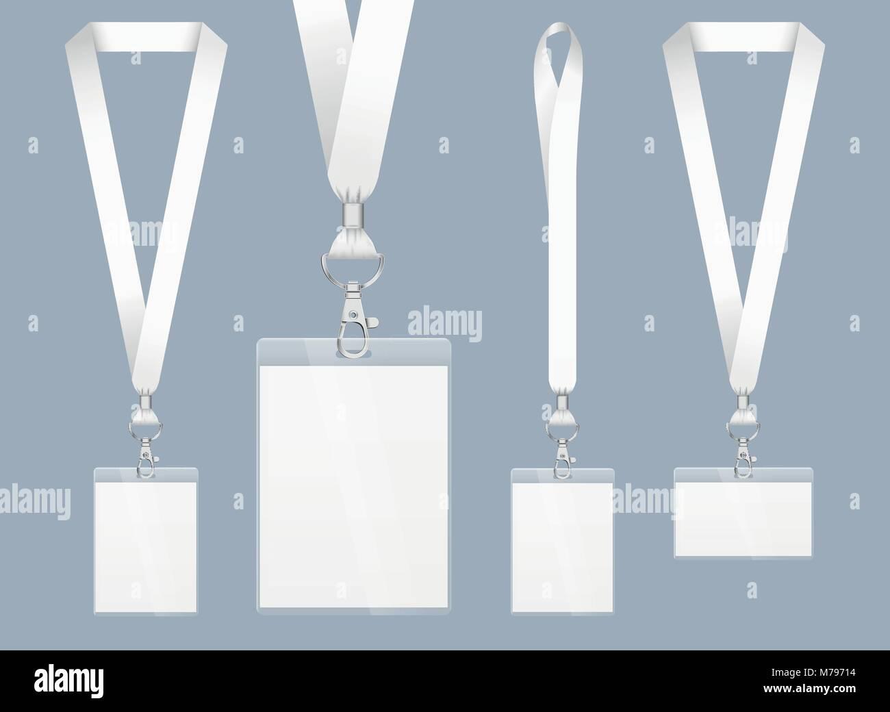 907e20854ff6 Diseño de cordón, ILUSTRACIÓN REALISTA. Tarjeta de identificación ...