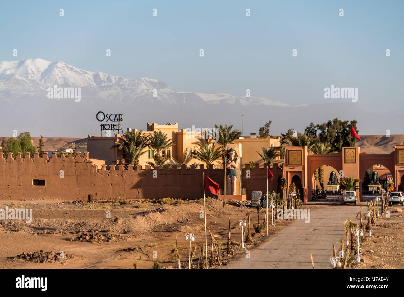 Atlas Corporation Studios y Oscar Hotel, Ouarzazate, Marruecos Imagen De Stock