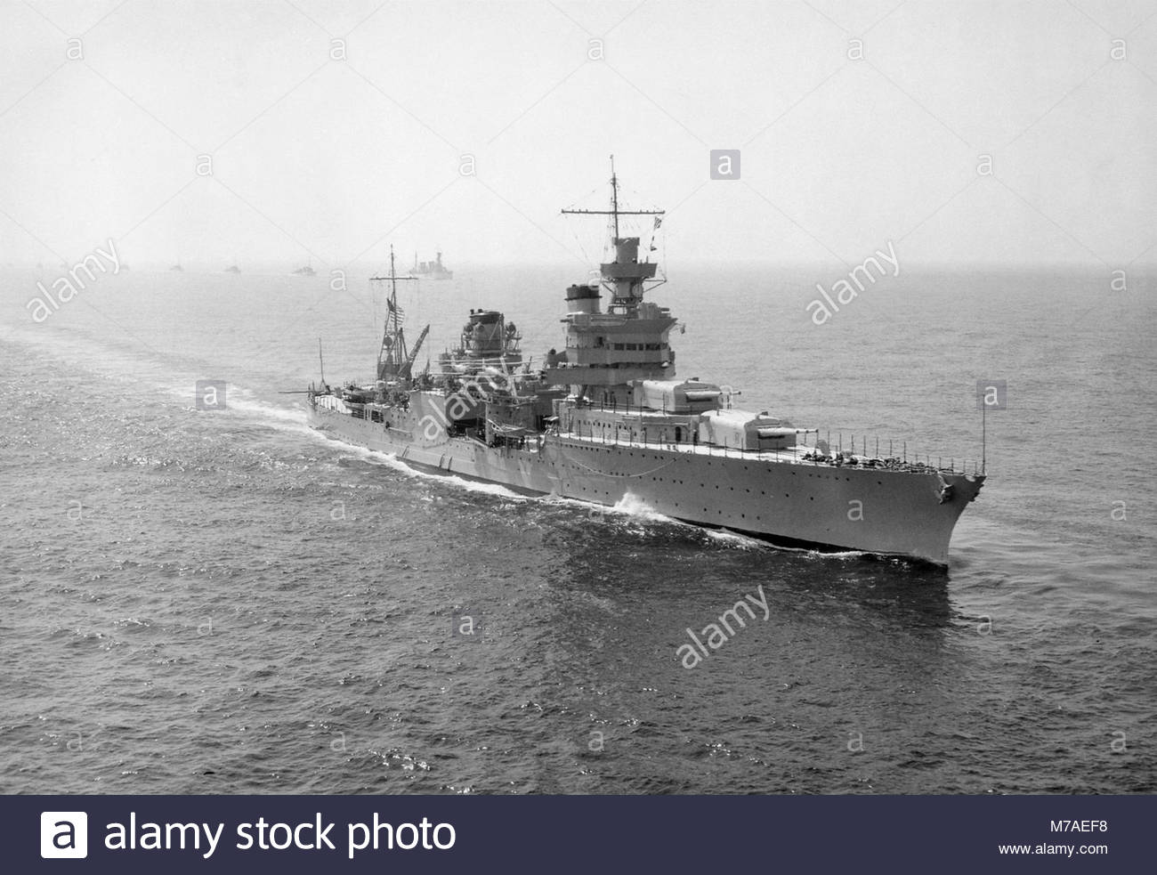US Navy HEAVY CRUISER USS Indianapolis (CA-35). Foto de stock