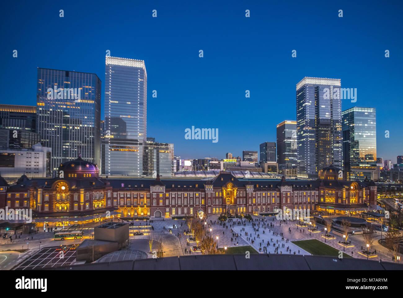 Japón, Tokio, ciudad del distrito de Marunouchi, el lado oeste de la estación de Tokio Imagen De Stock