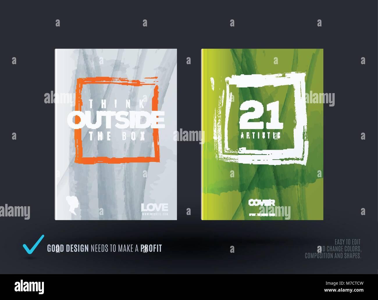 Conjunto de diseño abstracto del vector de negocios folleto ...