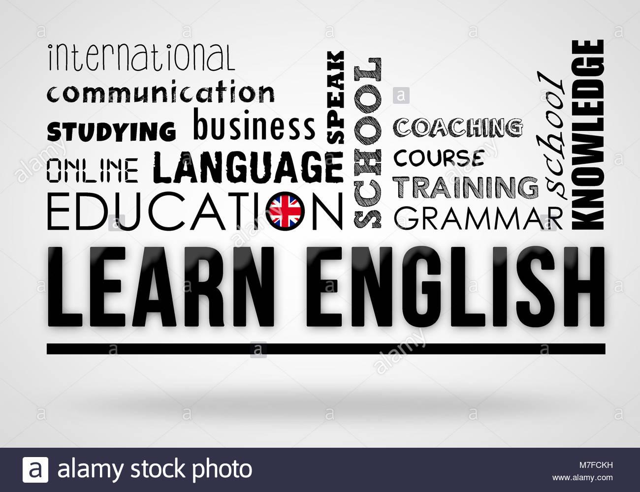 Aprender Ingles Concepto Motivacional Foto Imagen De